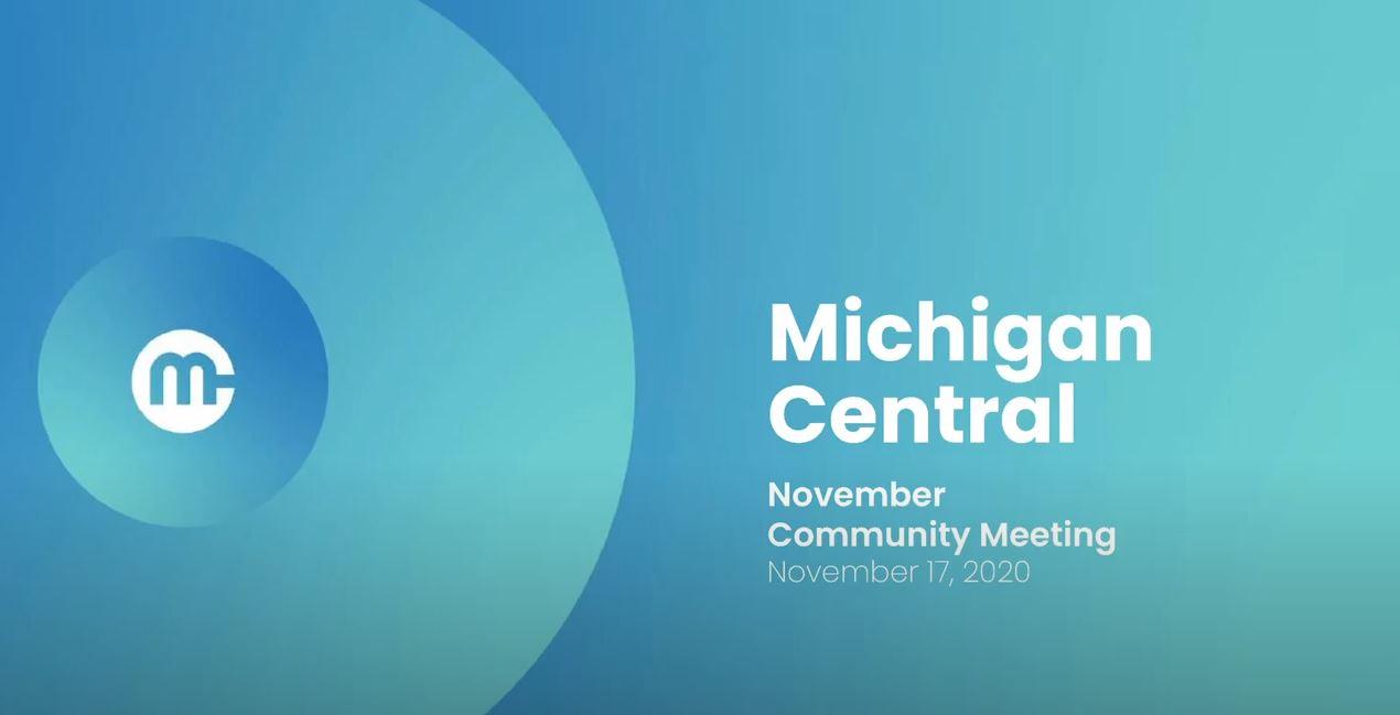 Recording of community presentation revealing Michigan Central Site Plan.