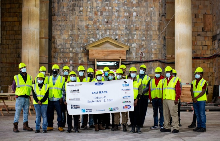 first cohort of 25 individuals Fast Track Job Program at Michigan Central Station