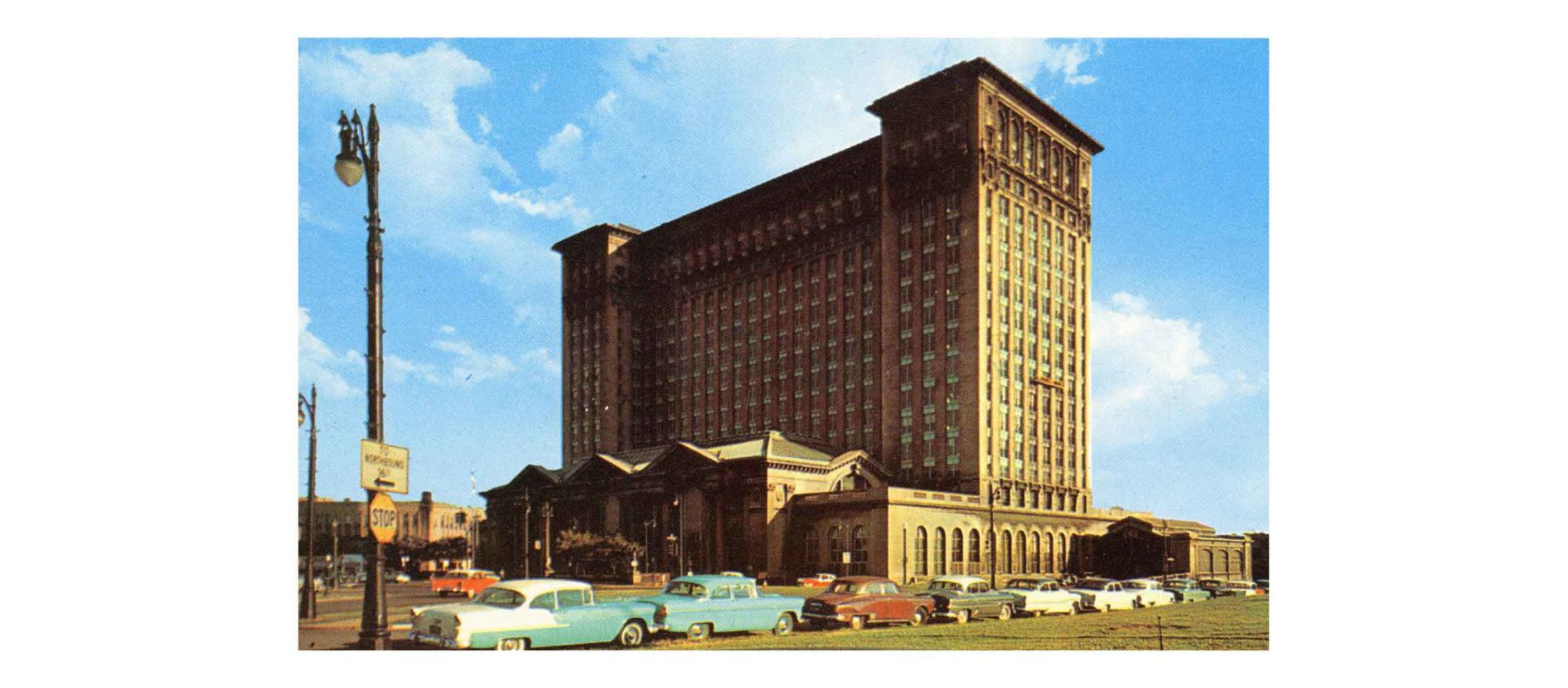historic photo of Michigan Central Station