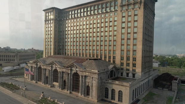 Michigan Central Station before renovations