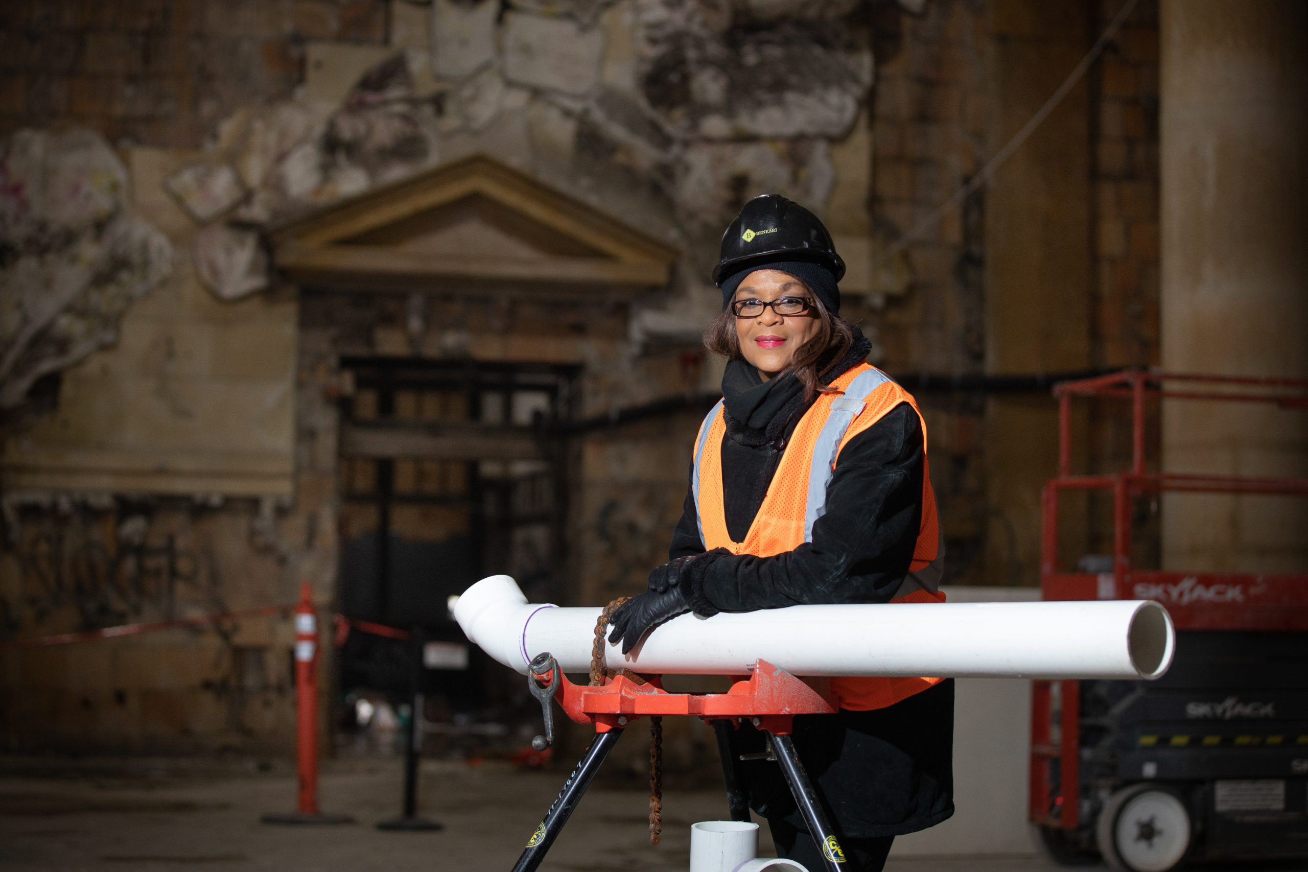 Adrienne Bennett the first female licensed master plumber and plumbing contractor in North America