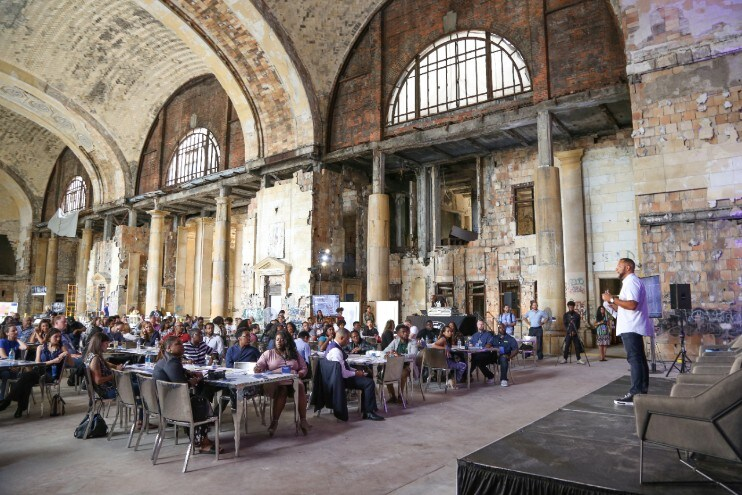 Reimagined Detroit Tech Nearly 200 millennial leaders participated in Reimagined Detroit Tech, a day of design challenges and workshops to share ideas and a new vision for Detroit's Corktown neighborhood, as Ford renovates Michigan Central Station and creates a new tech and mobility hub.