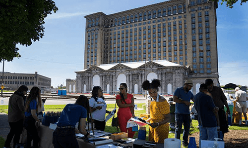 community event at Michigan Central