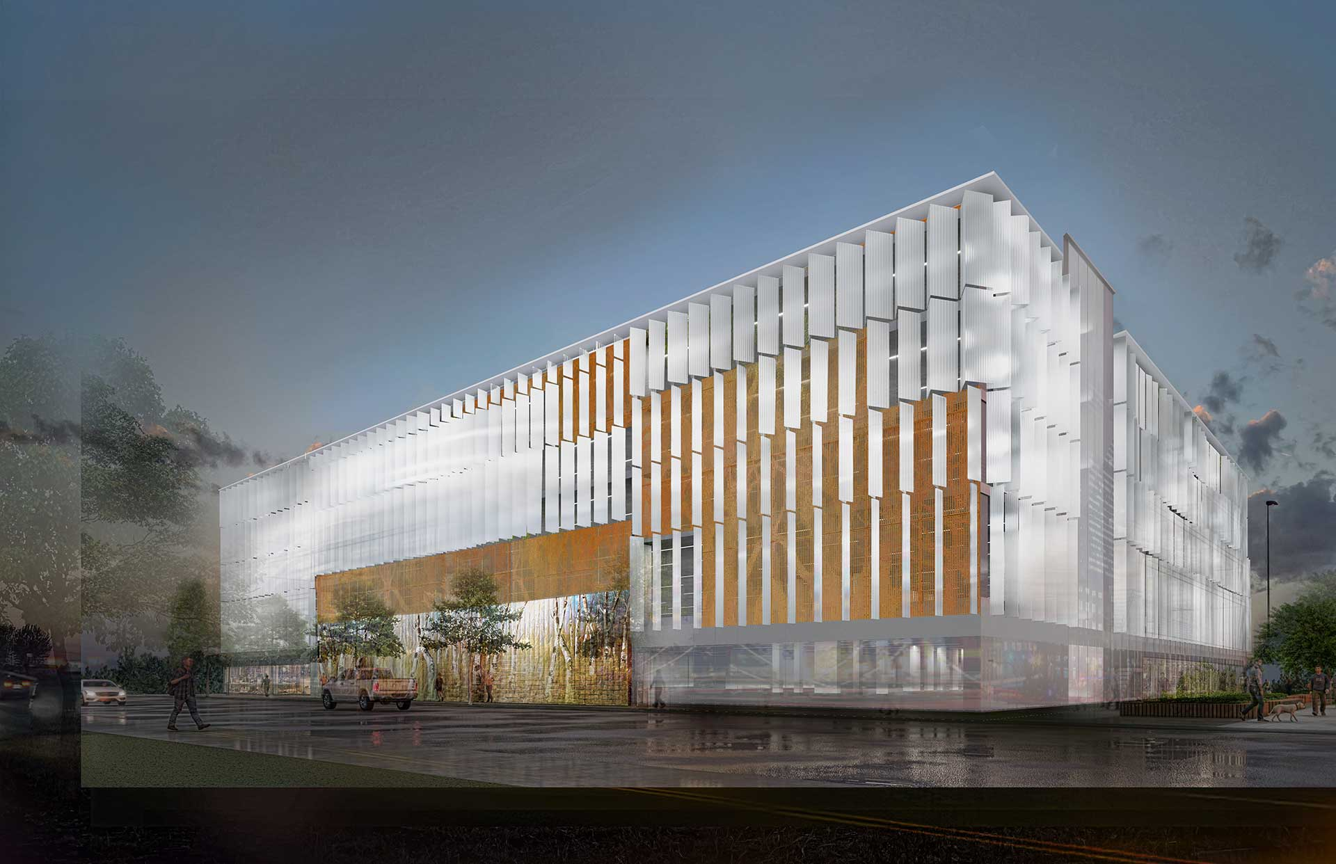 When complete, the Bagley Mobility Hub will be a state-of-the-art, tech-enabled mobility center